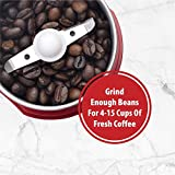 Wirsh Coffee Grinder - Electric Coffee grinder with Stainless Steel Blades,Coffee and Spice Grinder with 15 Cups Large Capacity,150W Powerful grinder for Coffee Beans, Spices, Peanuts, Grains and More