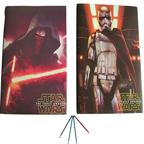 UPC 712038211104, 2 Star Wars Folders with Pockets - Super For Homework Prong and Brads - With Pencils - Great w/ binders ! Keeps Boys Work Protected & Presentation Ready Kylo Ren w/ Lightsaber & Captain Phasma Folder