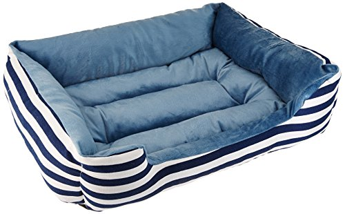 "HappyCare Textiles All Seasons Rectangle Pet Bed, 25"" x 21"","