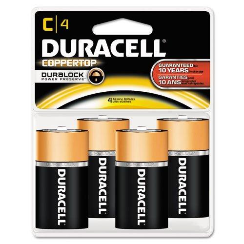 Duracell MN1400R4ZX17 CopperTop Alkaline Batteries, C, 4/PK