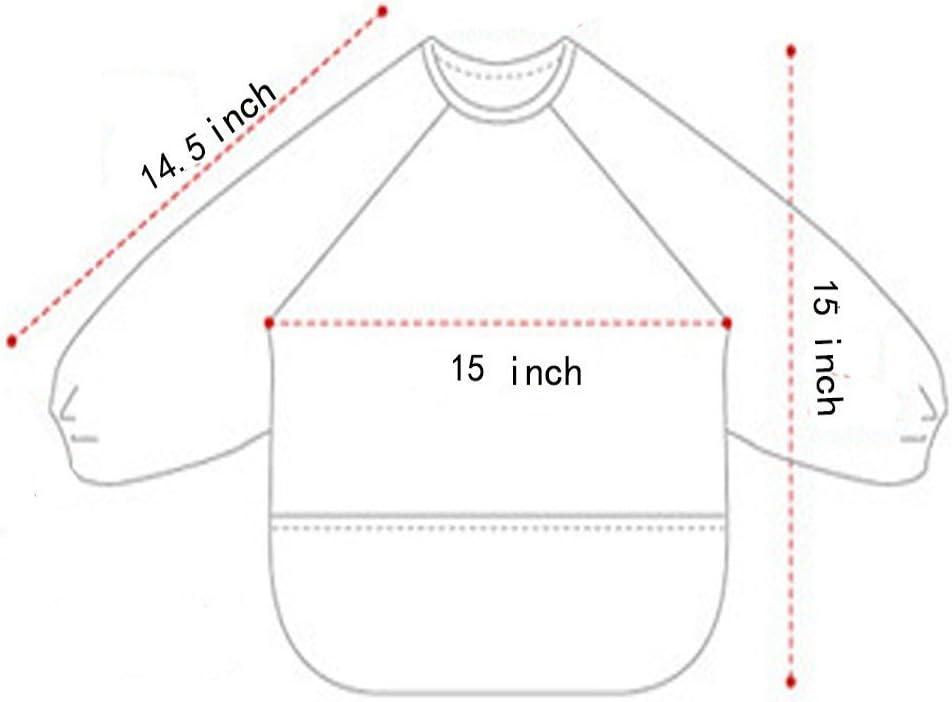 resistente al agua y para ni/ños de 1 a 3 a/ños Babylaza de manga larga Babero baberos bebe,lavable