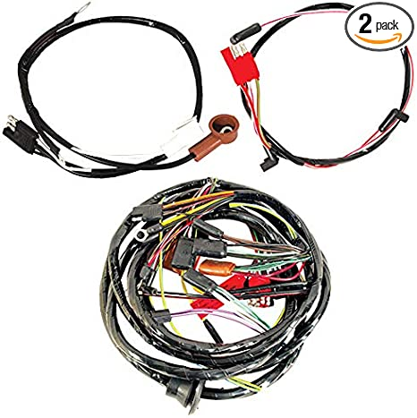 Amazon.com: 1967 Mustang Wiring Harness - 8 Cylinder 390 ... on mustang fog light kit, mustang headlights harness, mustang cigarette lighter harness, mustang fog light switch, 04 mustang fog light harness, 68 camaro wiring harness, mustang fog light cover, mustang led fog lights, mustang fender emblem, mustang v6 fog light wiring,