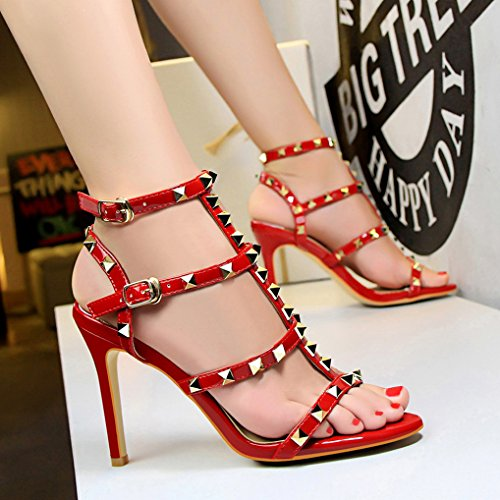 Chaussures Rivet Oaleen Femme Sandales Lanières Ouverte Talon Sexy wHqHaxpYZ4