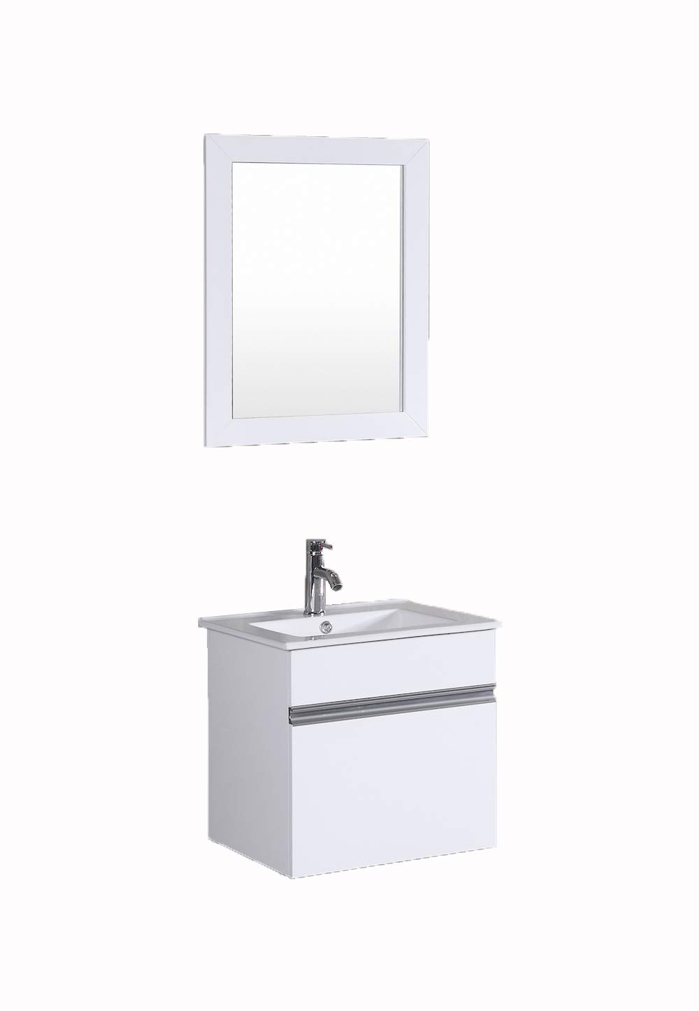 Petronius 20 small white modular wall mount hung floating modern bathroom vanity sink amazon com