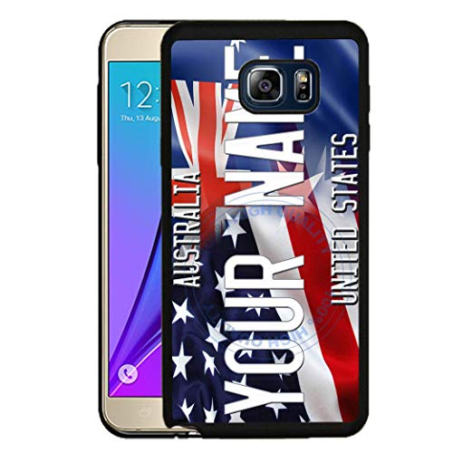 (BRGiftShop Personalize Your Own Mixed USA and Australia Flag Rubber Phone Case For Samsung Galaxy S8)