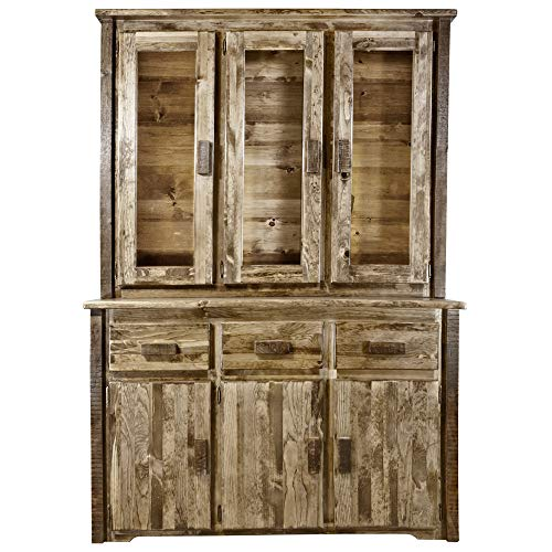 - Montana Woodworks MWHCCHLDSLAZ China Hutch & Sideboard, Stain & Lacquer Finish