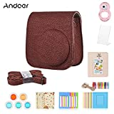 Andoer 8 in 1 Accessories Bundle for Fujifilm Instax Mini 9/8/8+/8s with Camera Case/Strap/Selfie Mirror/Filter/Album/Photo Frame/Sticker
