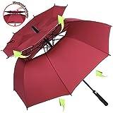 ZOMAKE Windproof Golf Umbrella, 62/68 inch Large Umbrella for Rain Double Canopy Automatic Open Vented Stick Umbrellas