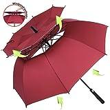 Cheap ZOMAKE Vented Sun Umbrella – Golf Umbrella Windproof Large 62 inch Double Canopy Automatic Open Umbrella for Men – Stick Umbrellas by