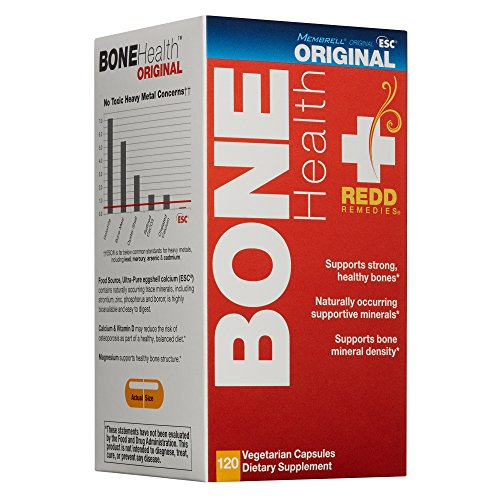 Redd Remedies - Bone Health Original, Vitamin D3 and Calcium for Strong Bone Support, 120 Count