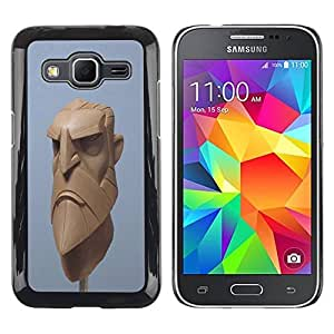 DIY PHONE CASE / Slim Protector Hard Shell Cover Case for Samsung Galaxy Core Prime SM-G360 / Blue Beard Viking Cgi Computer by ruishername