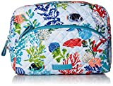Vera Bradley Iconic Large Cosmetic, Signature Cotton, Shore Thing