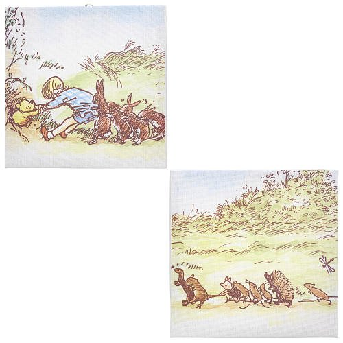 Disney Classic Pooh Together Time 2 Piece Canvas Wall Art by Kidsline by Disney