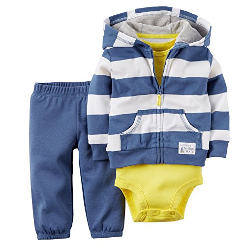 (Carter's Baby Boys' Mommy First Mate Cardigan 3 Piece Set- Preemie)