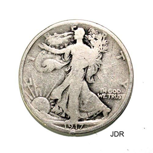 1917 S Walking Liberty Half .50c Average Circulated