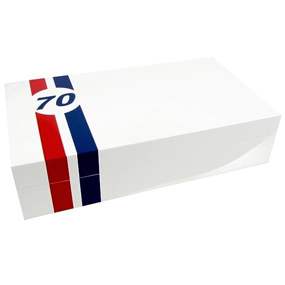 Caja guarda relojes Le Mans 70 piano blanco, 8 relojes: Amazon.es: Relojes