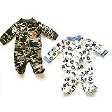 Garanimals Baby Boy Newborn Cotton Sleep N' Play Bundle of Two Newborn Sleepers