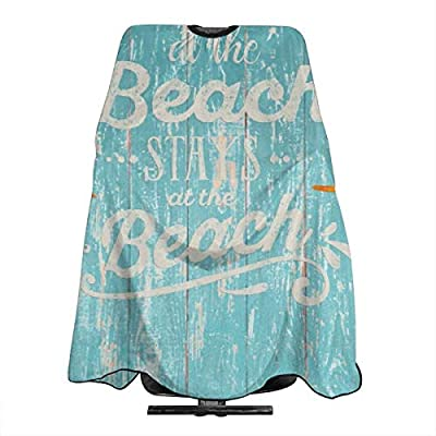 Delantal con texto en inglés «Happy Beach Life saying» en madera ...