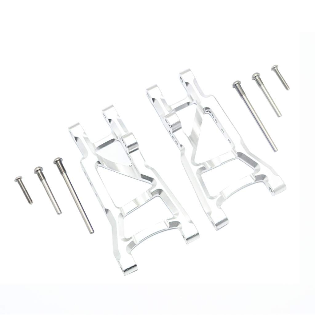 Binory Aluminum Rear Suspension A-Arms for Traxxas 1/10 Slash 2WD RC Car Upgrade Part(Silver)