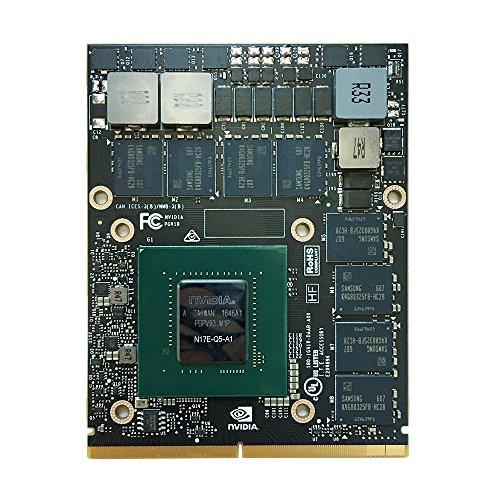 Original New NVIDIA Quadro P5000 16GB GDDR5 N17E-Q5-A1 Graphics Video Card for Dell Precision 7730 7720 7710 M7720 M7710 7530 5530 Mobile Workstation Laptop MXM Board Upgrade Replacement Parts