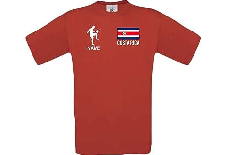 Shirtstown Camiseta De Niño Camiseta de Fútbol Costa Rica Hungría con Su Nombre Deseado Estampado: Amazon.es: Ropa y accesorios
