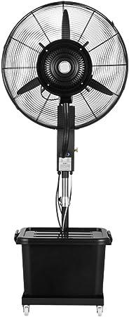 Ventilador nebulizador Exterior terraza Jardin Bar deposito Agua 40 litros/Ventiladores de pedestal/Ventilador Industrial de pie /3 Velocidades/Negro: Amazon.es: Hogar