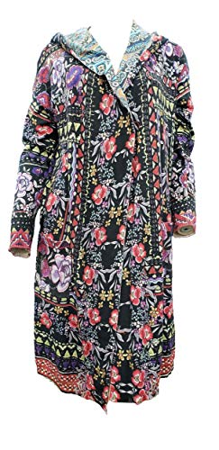 Johnny Was Flower Fields Duster Jacket with Hood - C50218 (Large, Multi)