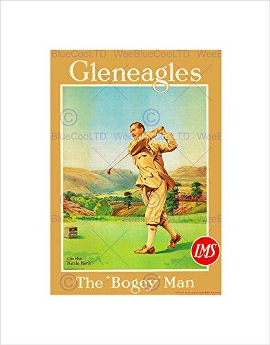 Travel Sport Golf GLENEAGLES Scotland Bogey Rail Art Print B12X7326