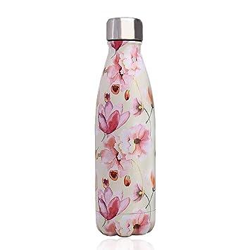 Newday1 Botella de Agua de Mantiene Bebidas frías por 24h y Calientes por 12h 500ML de