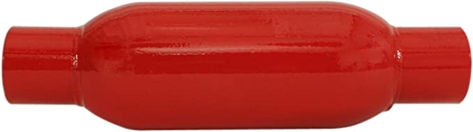 """Cherry Bomb 87521CB 3.5/"""" Round Glasspack Muffler 2.25/"""" Inlet Outlet"""