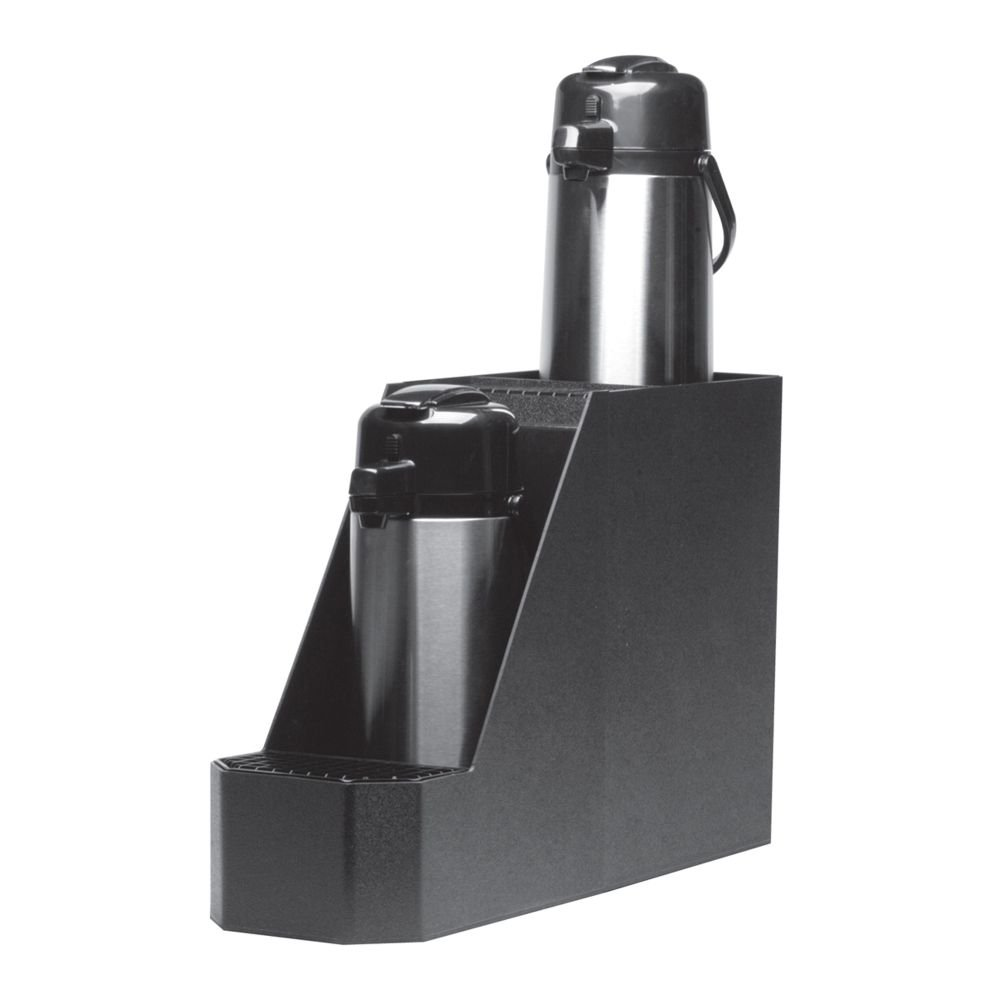 Service Ideas APS2BL Airpot Stand, Holds 2-Airpot, Plastic, Black