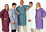 ValuMax NP3660WHM No Pocket, Extra-Safe, Wrinkle-Free, Noble Looking Disposable SMS Knee Length Lab Coats, White, M, Pack of 10