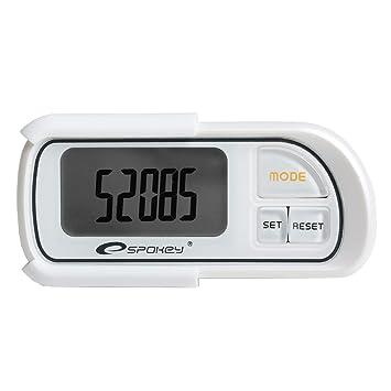 Spokey perlado podómetro digital con contador - Reloj de distancia y consumo de calorías memoria de