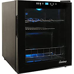 Vinotemp VT-15TS 15 Bottle Touchscreen Wine Cooler, Black