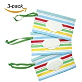 #6: NinkyNonk Baby Wipe Refill Case Portable Travel Wipe Case Wipe Pouch with Snap Strap, 3 Pcs