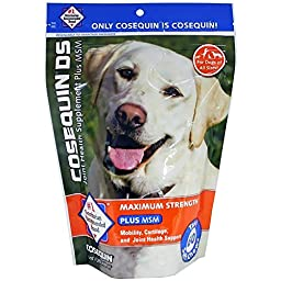 COSEQUIN Maximum Strength with MSM Plus Omega-3\'s Soft Chews (60 Count)
