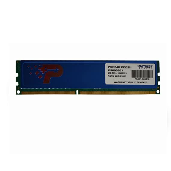Patriot Signature 4GB DDR3 RAM 1333MHz PC3-10600 240-Pin DIMM  Amazon.in   Computers   Accessories 9cd9500f26a