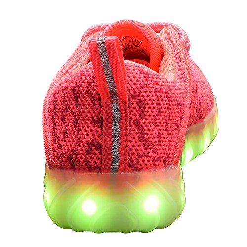 COODO - Zapatillas de running para mujer Coral