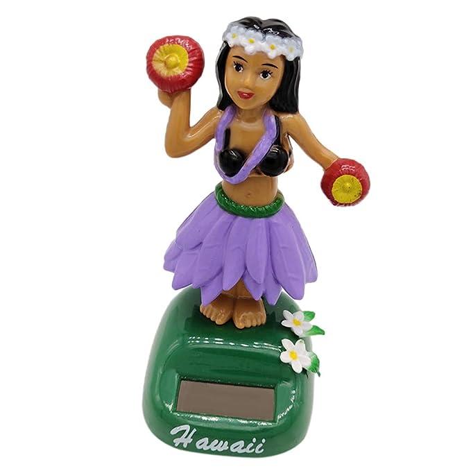 6er-Set Solar Wackelfigur Solarbetriebenes Spielzeug Dekofigur mit Hula Girl