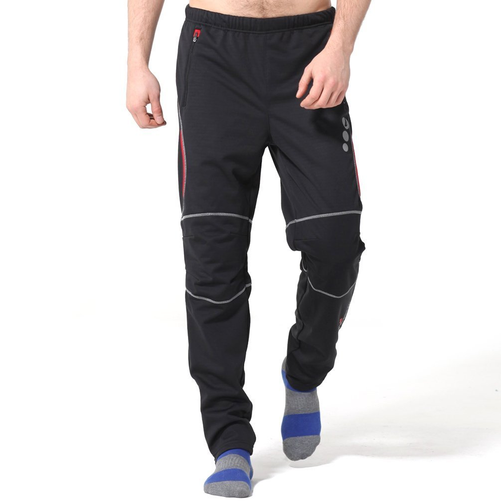 4ucycling Mens Windstopper Casual Outdoor and Multi Sporting Pants Fleeced