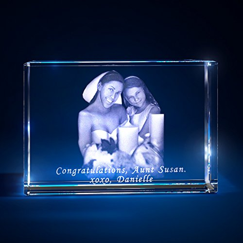 3D Laser Crystal Personalized Etched Engrave Gift Wedding Landscape Landscape S Transperant Clear NEW