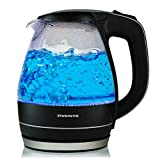 Ovente KG83B 1.5 Liter BPA Free Glass Cordless Electric Kettle, Black