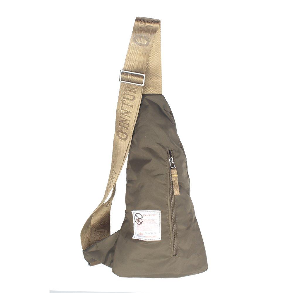 Innturt Nylon Sling Bag Daypack Travel Gym Backpack (S1-Army Green) by Innturt (Image #3)