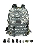 Tactical Backpack - ViperGear Military Tactical Backpack Rucksack Large Army 3 Day Assault Pack Molle Bug Out Bag Backpack Rucksacks for Outdoor Hunting Hiking Camping Trekking Digital Camouflage …