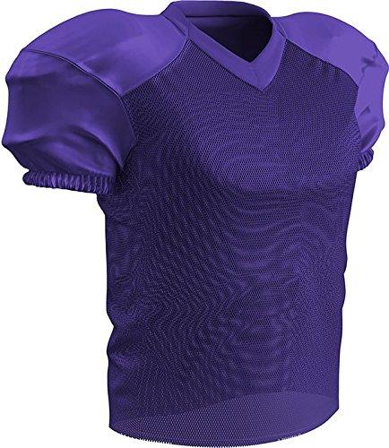 Purple Jersey Football - CHAMPRO Stretch Polyester Practice Football Jersey, Purple, 3X-Large