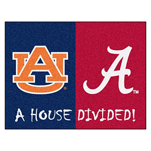 House Divided Area Rug Auburn Tigers - Alabama Crimson Tide