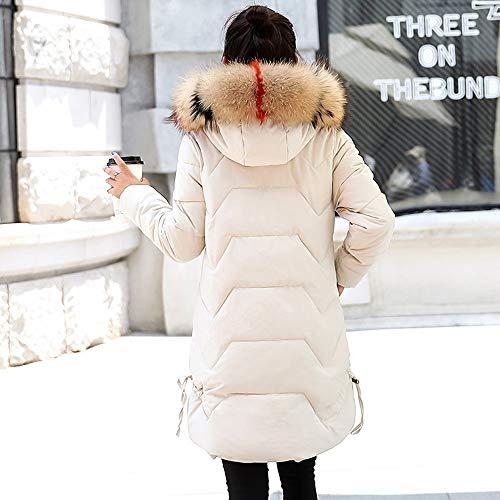 Manteau D'extérieur Beige Et Chaud Dames Huhu833 À Long Capuchon Épais Doudounes Veste Pour Femmes tOOA8qn1