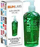 Sun Laboratories Aloe Vera Gel 8 fl oz - Aloe Vera Gel For Face | Pure Aloe Vera Gel | Aloe Vera Gel Uses Over Exposure To Sun, Soothing Skin Face And Body | Great To Use On Face And Legs