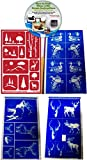 Wildlife & Outdoors Glass Etching Stencils (4) Pack of Deer, Elk, Ducks, Eagle, & Mountains + How to Etch CD