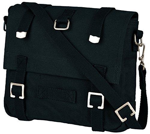 BW Kampftasche klein Umhängetasche Canvas Bag in vielen Farben Schwarz OneSize